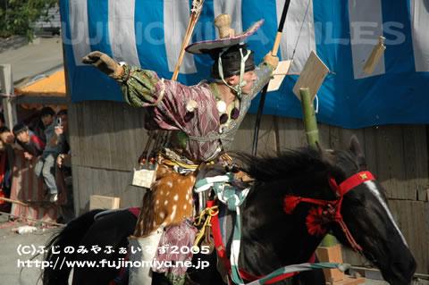 やぶさめ祭り2005 連写2-3
